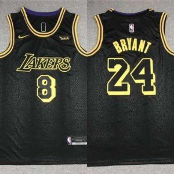 Shirts | Los Angeles Lakers 8 24 Kobe Bryant Black Jersey | Poshmark